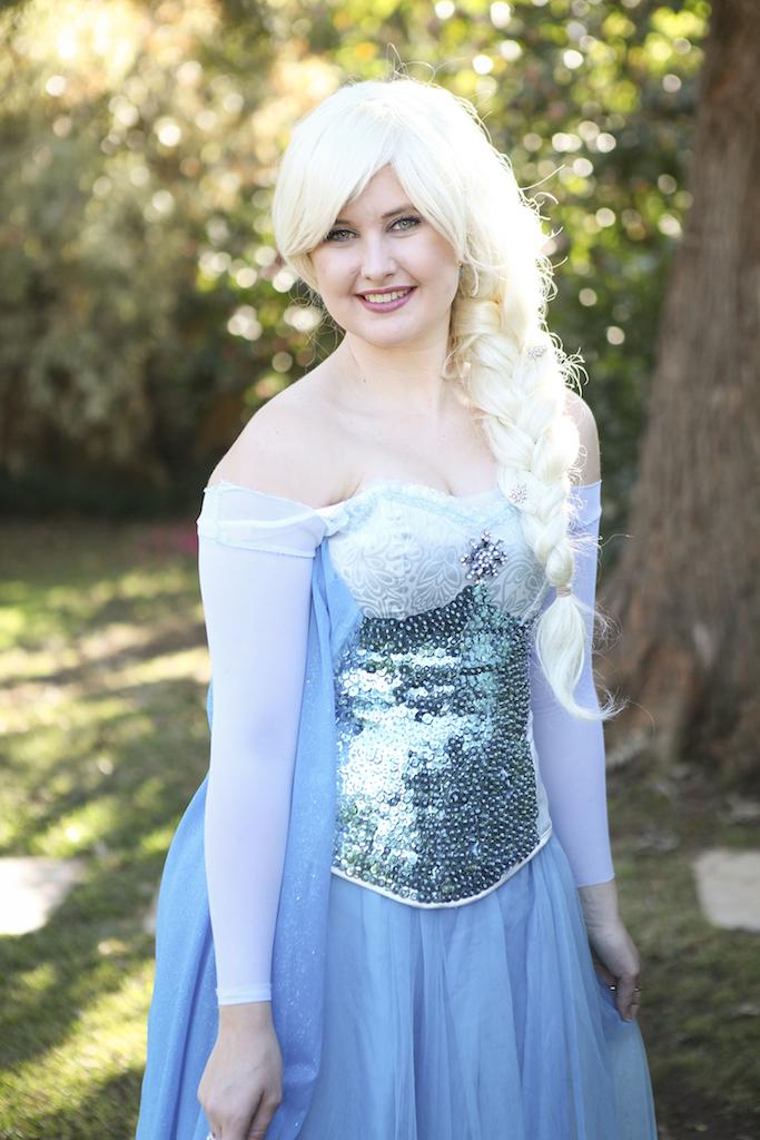 Snow Queen Dress 2 Close Up