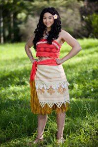 Wayfaring Princess Moana Inspired Character for Sydney Kids Parties